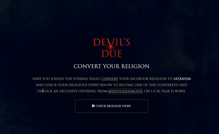 """Crazy Promotion For New Movie """"Devil's Due"""" - Convert To Satanism And Get Free Movie Tickets"""