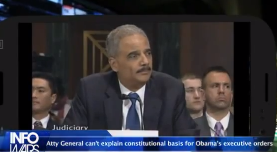 Eric Holder Clueless on The Constitutional Basis for Obama's Executive Orders