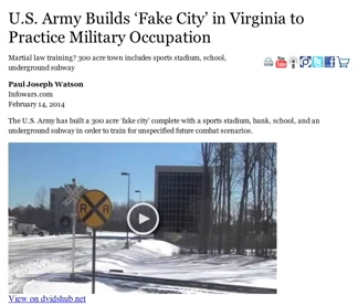 Army Builds Fake City to Practice Taking on U.S. Citizens
