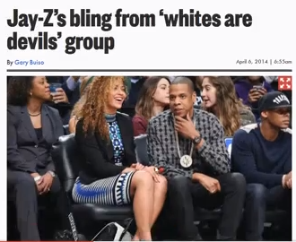 "Jay-Z Wears ""White Man is the Devil"" ­Medallion To Brooklyn Nets Game"