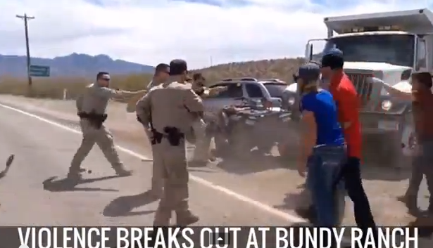 Violence Breaks Out At Bundy Ranch