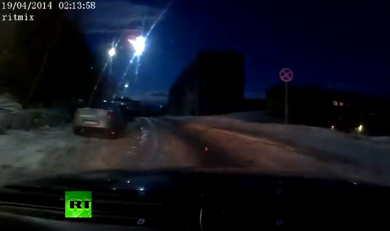 UFO or Meteor-like object over Russia's Murmansk caught on dash-camera
