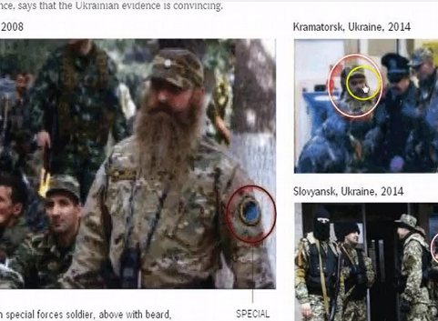Photos purporting to show Russian Special Forces operating...