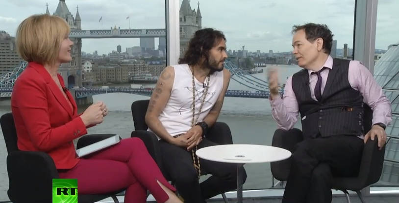 Russell Brand Talks Revolution With Max Keiser And Stacy Herbert