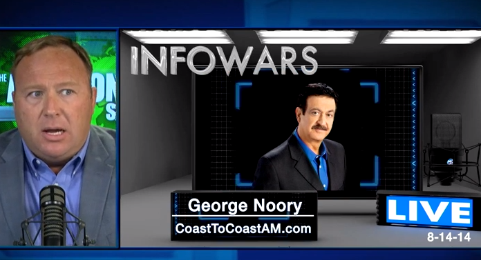 Alex Jones speaks with fellow radio host George Noory...