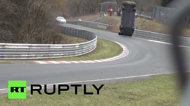 Nissan GT-R crashes into crowd at Nurburgring race in Germany, killing a spectator