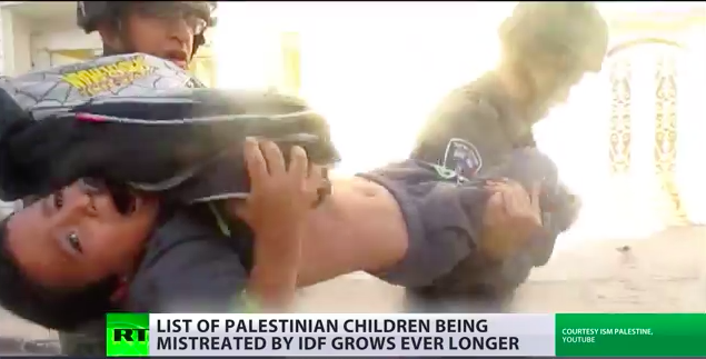 Palestinian children on the radar – as video...