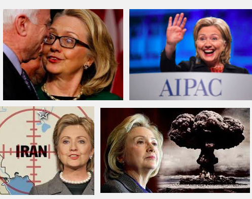 Crazed Warmonger Hillary Clinton Unconditionally Supports...