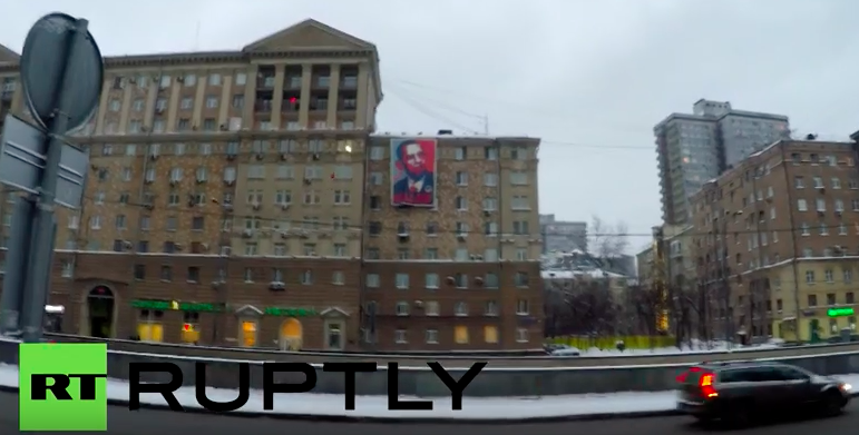 Activists put provocative banner opposite US embassy in Moscow