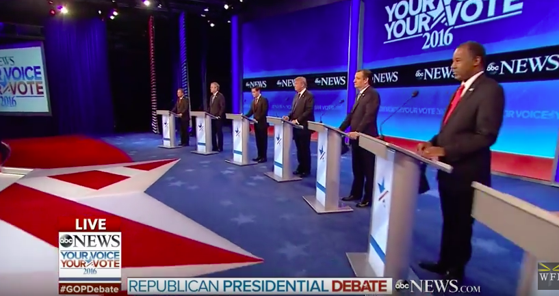 Epic Fail At Disney's ABC - Screws Up GOP Debate Intro Of Candidates