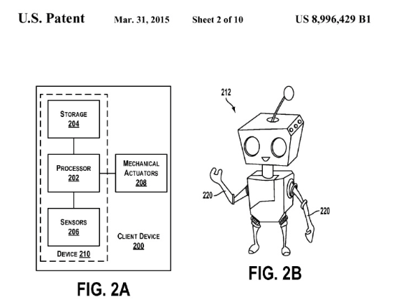 Google Patents Technology To Develop Downloadable Personalities For Robots