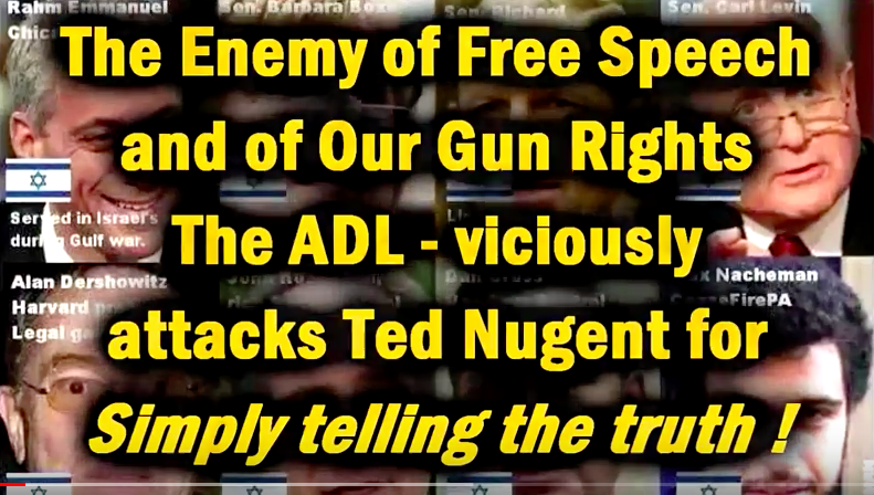Rocker Ted Nugent VS the ADL – Who is Behind...