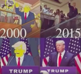 100% PROOF THE SIMPSONS USING PREDICTIVE PROGRAMMING (TRUMP FOR PRESIDENT)