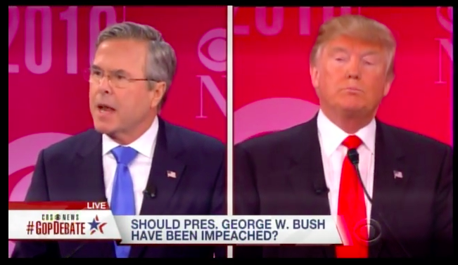 Donald Trump to Jeb Bush: The World Trade Center Came Down During Your Brother's Reign