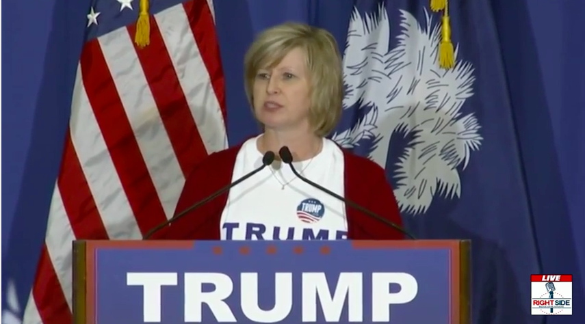 Betsy Sharp, Daughter of Woman Whose Farm Donald Trump Saved, Speaks at SC Rally