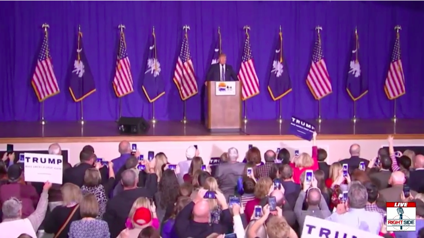 Large Donald Trump Event @ Gaffney, SC - Full Speech To Passionate Crowd