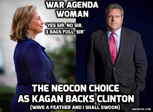 Now That Jeb Bush Is Out The Jewish PNAC Neocon Warmongers Back Hillary Clinton
