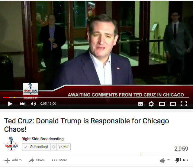 Lots Of Thumbs Down For Ted Cruz Comments Against Trump