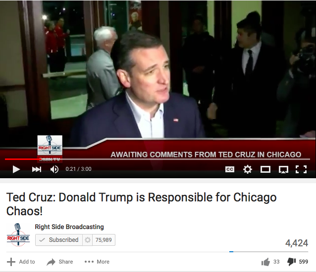 Lots More Thumbs Down For Ted Cruz Comments Against Trump