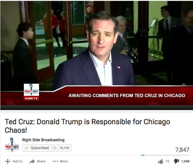 More Ame More Thumbs Down For Ted Cruz Comments Against Trump