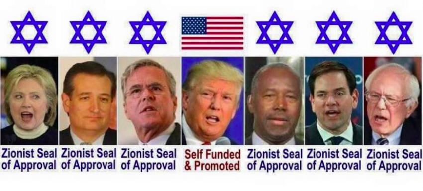 As Far Back A I Remember All Those That Get To Run For President Are All Zionist Puppets. Donald Trump Seems To Be Different But He Could Be Compromised Like The Rest. We Have Taxation With Representation Since The Politicians Are Picked For Us First By Zionists.