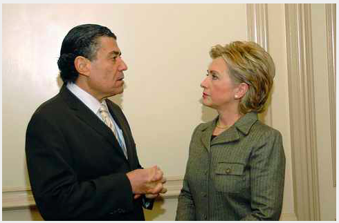 Zionist Billionaire Saban and Clinton, on an earlier occasion
