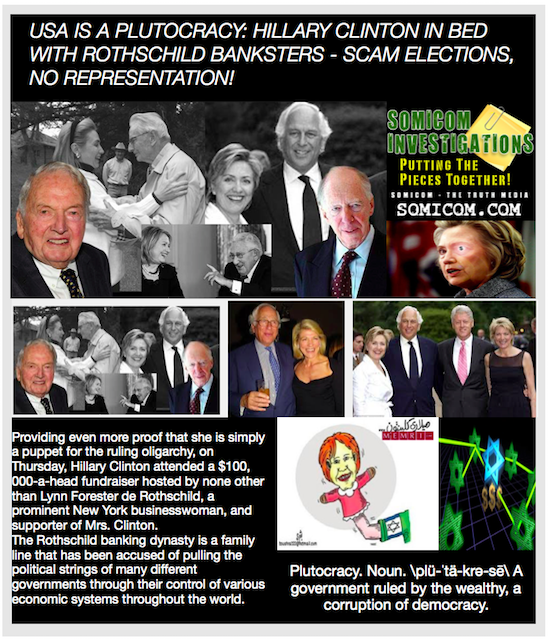 Hillary Clinton In Bed With Rothschild