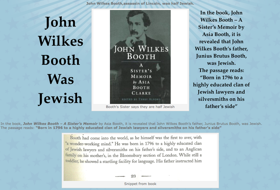 John Wilkes Booth Was Jewish