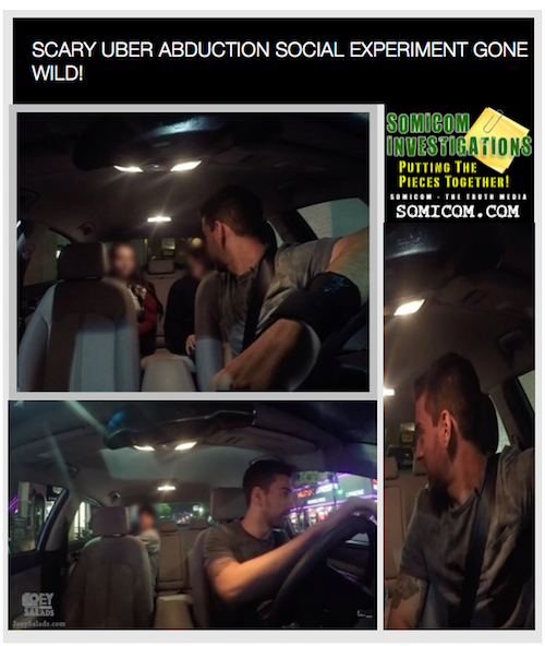 Scary UBER ABDUCTION Social Experiment Gone Wild!