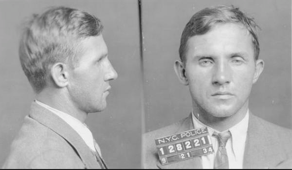 "German-born carpenter Bruno Richard Hauptmann was charged on September 21, 1934 with the murder of the kidnapped son of Charles Lindbergh and Anne Morrow Lindbergh. The Lindbergh kidnapping was known as ""The Crime of the Century."" Photo courtesy of the Flemington Police Department"