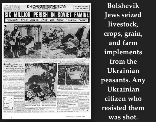 The Bolshevik Jews Kill Ukrainians