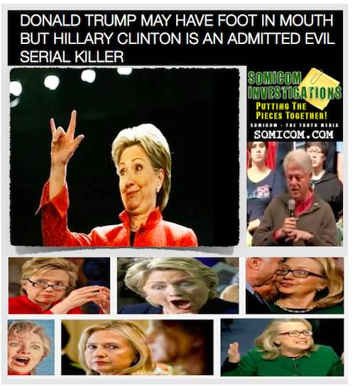 Hillary Clinton Is An Admitted Evil Serial Killer