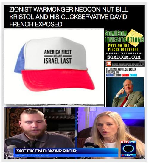 Zionist Warmonger Neocon Nut Bill Kristol