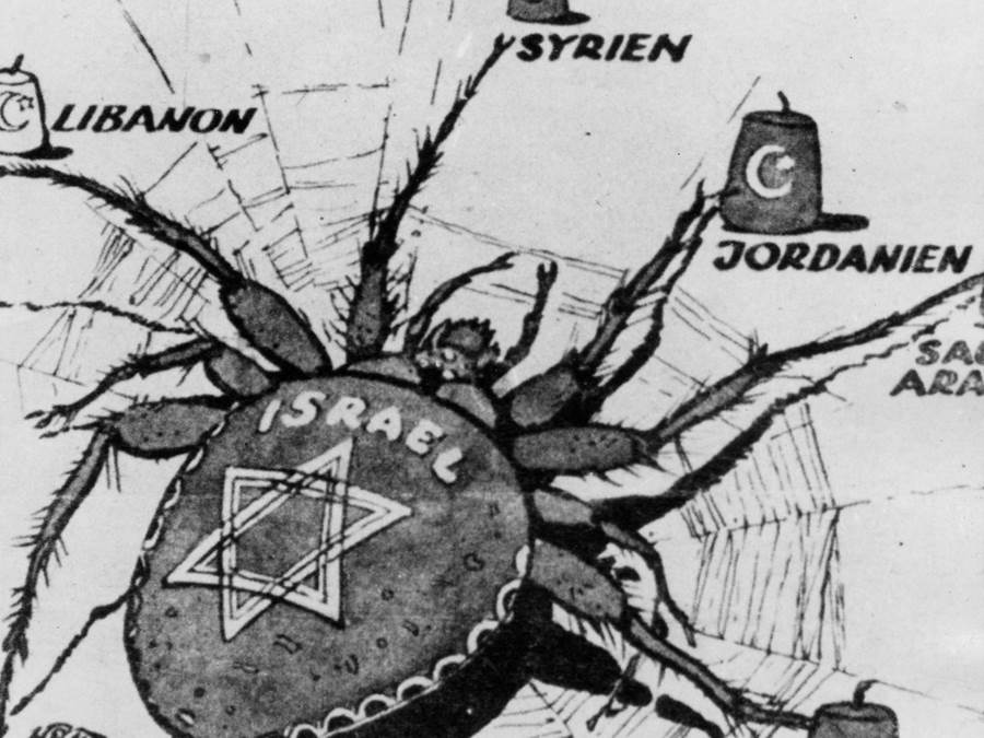 Historic Political Cartoon That Got It Right When It Was Accusing Israel Of Controlling The Middle East.