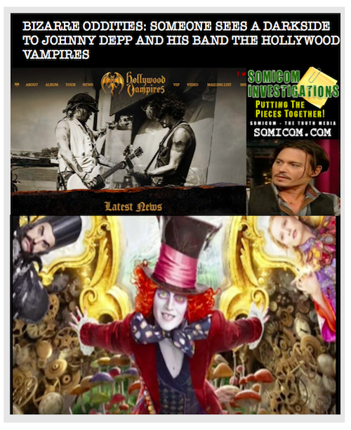 Bizarre Oddities: Someone Sees A Dark Side To Johnny Depp And His Band The Hollywood Vampires