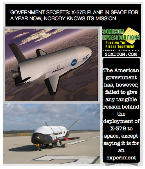 Government Secrets: X-37B Plane in Space for a Year...