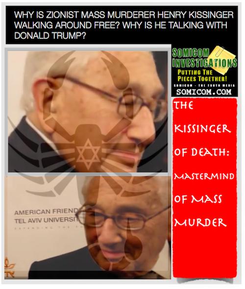 Zionist Mass Murderer Henry Kissinger