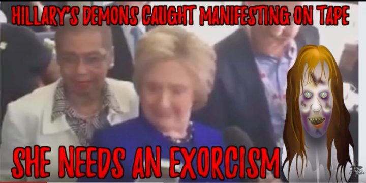 Strange Video: Hillary Clinton Looks Like She Is Taken Over By Demons, Is She Possessed?