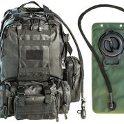 Monkey-Paks-Tactical-Military-Backpack-Bundle-with-25L-Hydration-Water-Bladder-and-3-Molle-Bags-Black-0